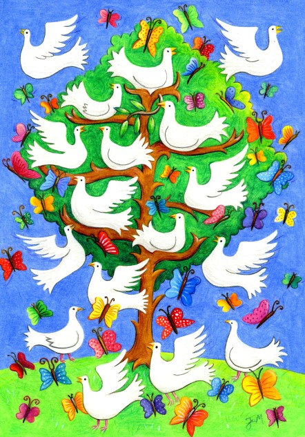 The dove and butterfly tree