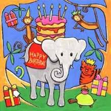 Elephant with Cake
