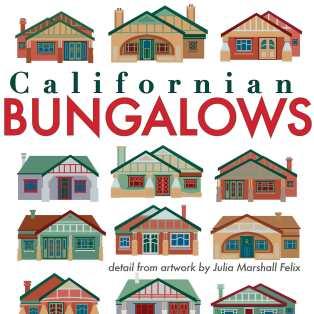 Detail from Californian Bungalows art print