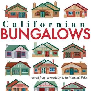 Detail from Californian Bungalows art print