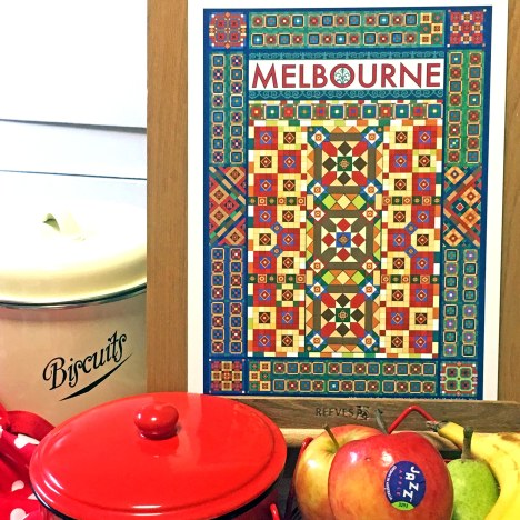 Melbourne: city of pattern art print